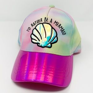 NEW I'd Rather Be A Mermaid Tie Dye Iridescent Hat